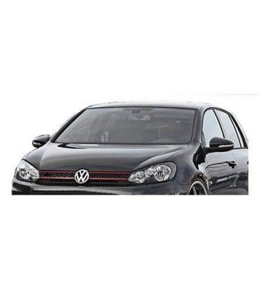 sportgrill vw golf vi gti style schwarz rot f r emblem. Black Bedroom Furniture Sets. Home Design Ideas
