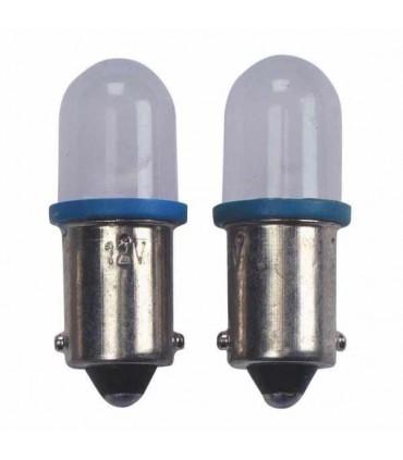 BA9S Fassung LED Standlichtlampe Blau 2Stück