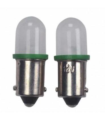 BA9S Fassung LED Standlichtlampe Grün 2Stück