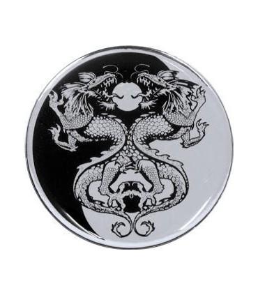3D Emblem Drachen Yin-Yang