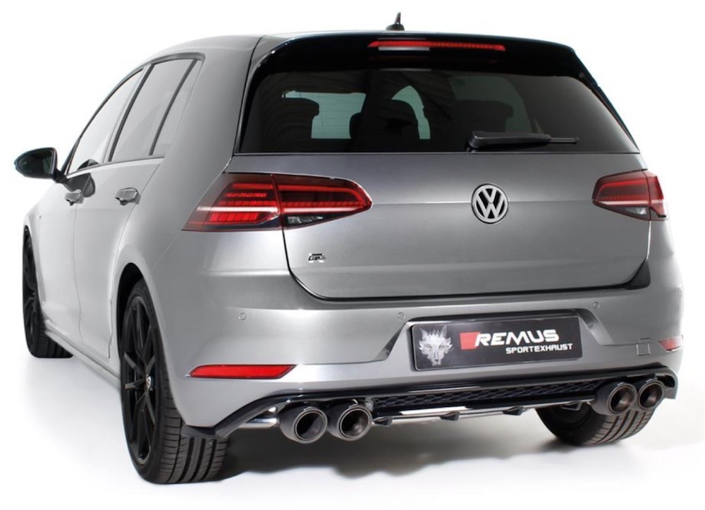 VW Golf 7 R Jg 2013 2017 Remus Auspuffanlage Aus Edelstahl Inkl Klappen