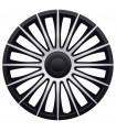 4er Set Radkappen - Radzierblenden Austin Design 17 Zoll Schwarz - Silber