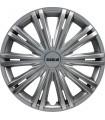 4er Set Radkappen - Radzierblenden Giga Design 14 Zoll Silber