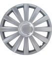 4er Set Radkappen - Radzierblenden Spyder Design 17 Zoll Silber