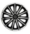 4er Set Radkappen - Radzierblenden Nero Design 17 Zoll Schwarz/Silber