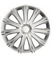 4er Set Radkappen - Radzierblenden Nero Design 17 Zoll Silber