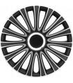 4er Set Radkappen - Radzierblenden LeMans Design 17 Zoll Schwarz/Silber