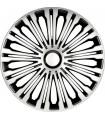 4er Set Radkappen - Radzierblenden Volante Design 17 Zoll Silber/Schwarz