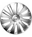 4er Set Radkappen - Radzierblenden Sepang Design 17 Zoll Silber