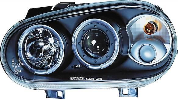 vw golf iv scheinwerfer schwarz ii angel eyes. Black Bedroom Furniture Sets. Home Design Ideas